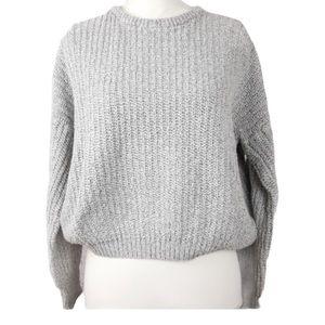 Brandy Melville Chunky Knit Crop Sweater OS